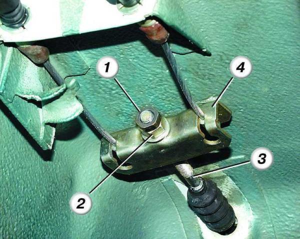 Как поменять тросик ручника на ваз 2110