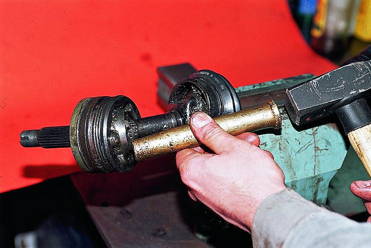 Снимаем гранату с привода