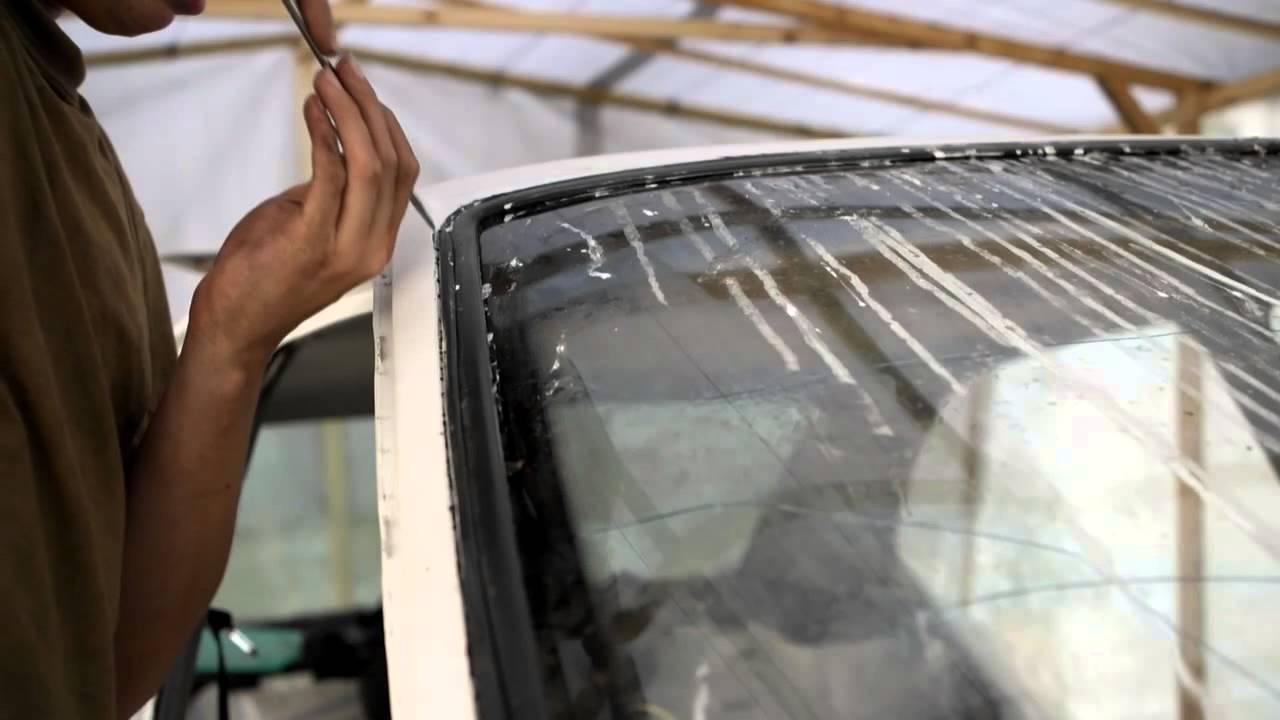 Замена заднего стекла мерседес своими руками