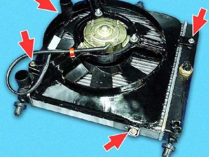 Снятие вентилятора с радиатора