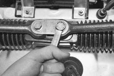 Снятие наконечников с рейки