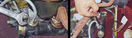 Снятие резинового шланга и трубки с цилиндра